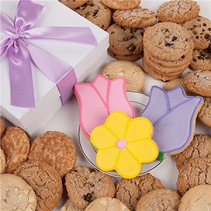 Tulips and Daisy Cookie Gift Box