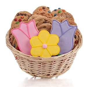 Daisy & Tulips Cookie Basket