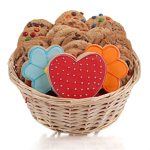 Daisies & Hearts Cookie Gift Basket
